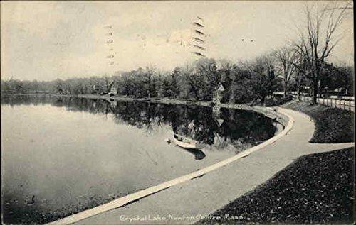 Newton Crystal (Crystal Lake Newton Centre, Massachusetts Original Vintage Postcard)