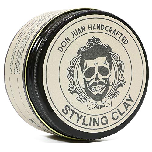 Don Juan Handcrafted Styling Clay Pomade 4oz - Medium Hold - Matte Natural Finish - Water Based - Summer Breeze Scent (The Best Water Based Pomade)