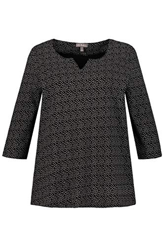 Ulla Popken Tailles T Noir 717765 Shirt Femme Grandes q7qHR8