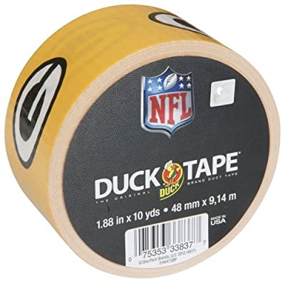 Duck Brand 240488 Green Bay Packers NFL Team Logo Duct Tape, 1.88-Inch by 10 Yards, Single Roll Color: Green Bay Packers Office Supply Product by Duck