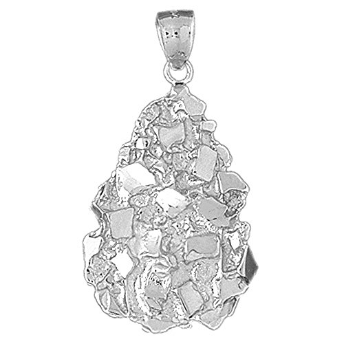 Jewels Obsession Nugget Pendant | Sterling Silver 925 Nugget Pendant - 45 - Pendant Charm Nugget Jewelry