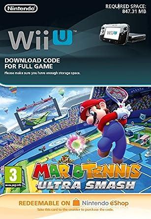 Mario Tennis: Ultra Smash [Wii U Download Code]: Amazon co