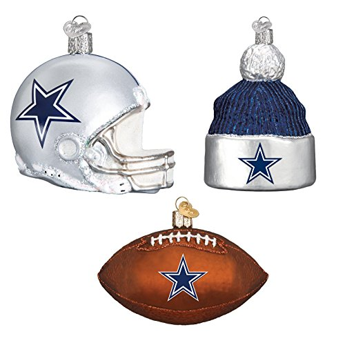 Dallas Cowboys Christmas Ornaments (3) (Dallas Cowboy Football Costume)
