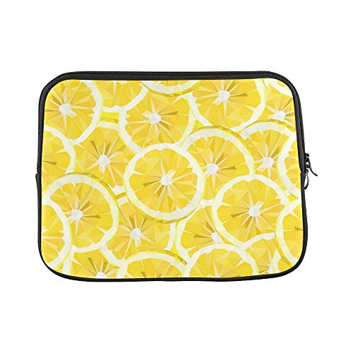 Design Custom Lemon Textiles Wallpaper Fabric Sleeve Soft Laptop Case Bag Pouch Skin for MacBook Air 11