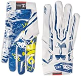 Under Armour Men's F5 – Limited Edition Football Gloves, Aluminum/Aluminum, Large
