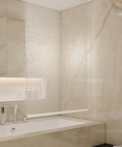 SHOWER CURTAIN. Basic Store de douche 140/ x 240/ cm PEVA Milky Stone Transparent aspect Store
