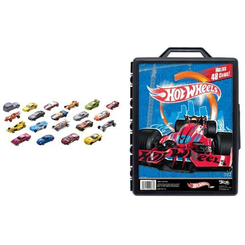 Hot Wheels 20 Car Gift Pack and 48 Car Case