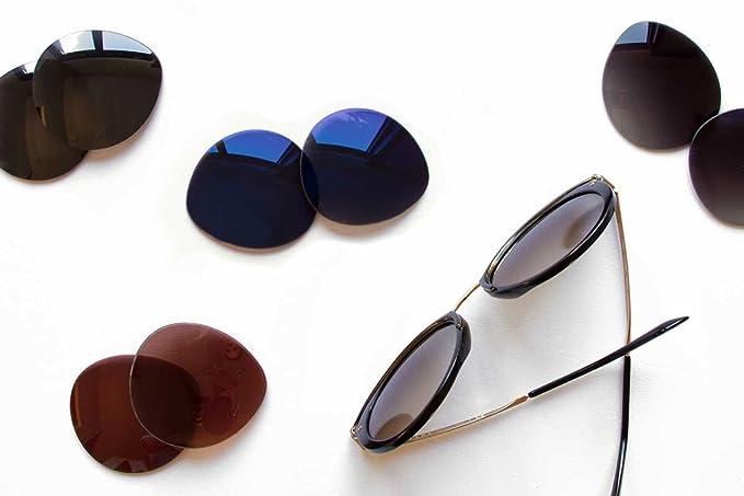 f0e95884e3459 Amazon.com  SFx Replacement Sunglass Lenses fits Maui Jim MJ413 Hanalei  67mm wide x 41mm tall (Polycarbonate Clear Hardcoat Pair-Regular)  Clothing