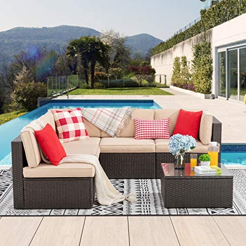 Vongrasig 6 Piece Patio Furniture Set