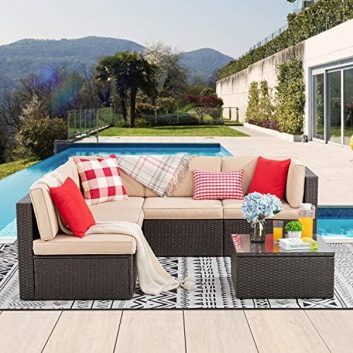 Vongrasig 6 Piece Patio Furniture Set