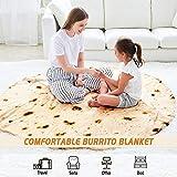 CASOFU Burritos Blanket, Giant Flour Tortilla Throw