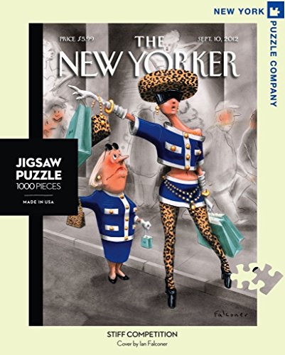 New York Puzzle Company - New Yorker Stiff Competition - 1000 Piece Jigsaw Puzzle
