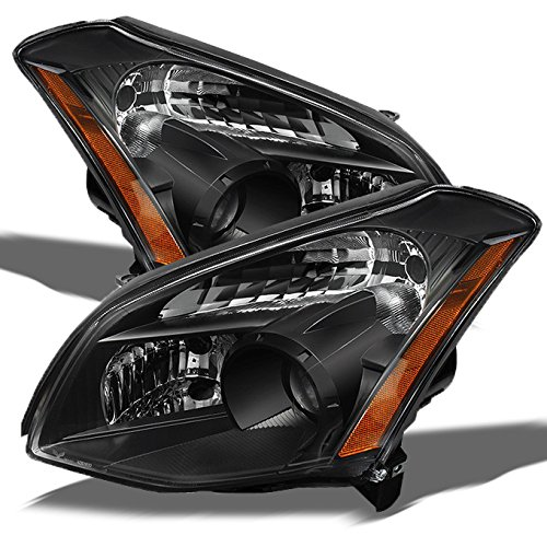 For Nissan Maxima OE Replacement JDM Black Bezel Headlights Driver/Passenger Head Lamps Pair New