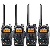 Olywiz UV6S High Power Dual Band Amateur Two-Way Radio Transceiver 128 Channel UHF VHFFM Radio 2000mAh Battery CTCSS DCS VOX Long Range 2 Way Radio Walkie Talkie 4 Pack