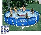 "Intex 12' x 30"" Metal Frame Set Swimming Pool with 530 GPH Filter Pump | 28211EG"
