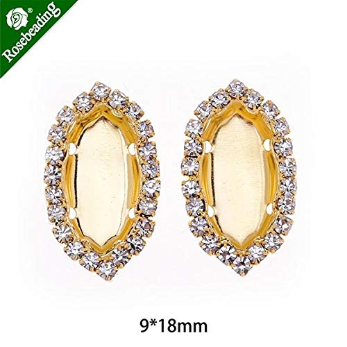 - Crystal Pendant Chain | Blank Marquise Shape | Ear Claw Jewelry Accessories | 20pcs/lot