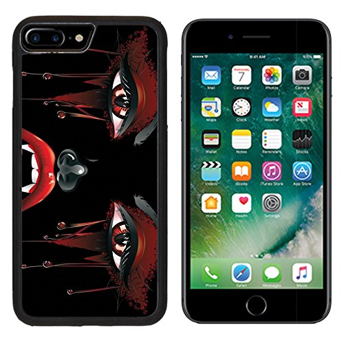 Luxlady Apple iPhone 7 Plus iPhone 8 Plus Aluminum Backplate Bumper Snap iphone7plus/8plus Case IMAGE ID: 37120024 Abstract female vampire face with festival eye makeup and red lips ()