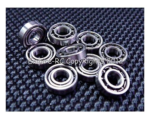 (10 PCS) MR52 (2x5x2 mm) Metal OPEN PRECISION Ball Bearing by peel empire.rc