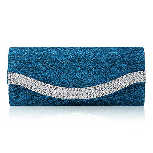 Evening Creative Chaotic Crystal Party Glitter Damara Stitch Blue Womens Bag EY5xwxqa