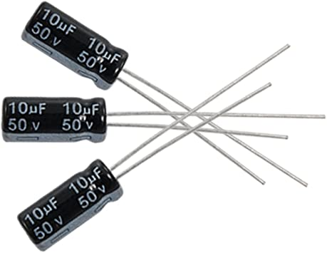 20 Piezas 50v 100uf 105c plomo Radial condensador electrolítico 8 Mm X 12 Mm