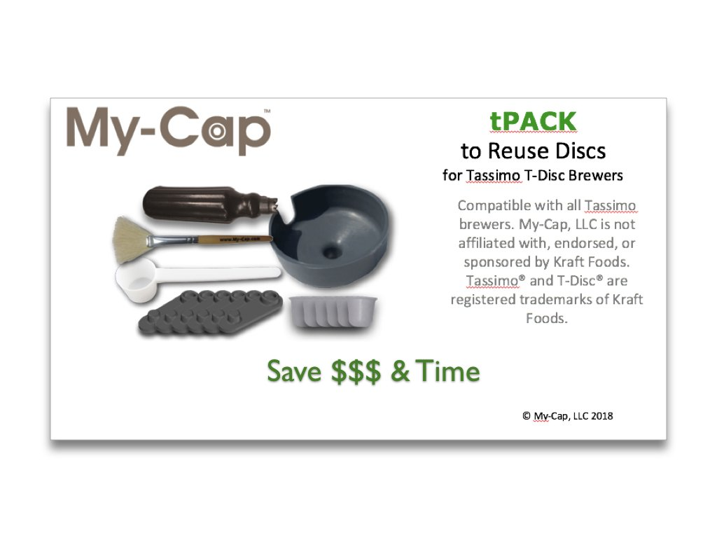 My-Cap tPACK - Complete Solution to Make Your Own Reusable and Refillable Discs for Tassimo T-Disc Coffee Maker Brewers TPACKX