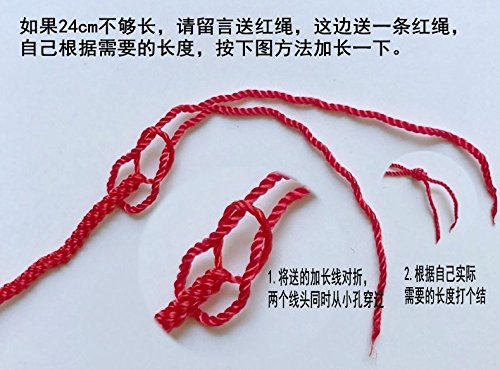 Price comparison product image Generic Manual_red_rope_jade_crystal_foot_ chain _this_year_by transfer_of girls_Foot Ring simple_nation provision accessories.