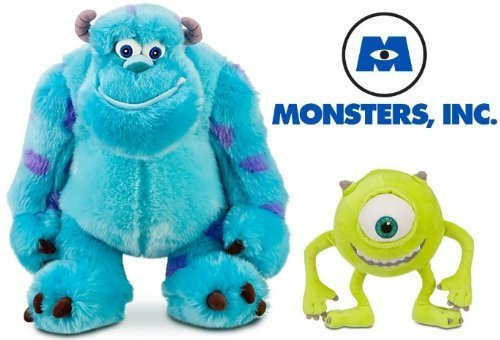 Disney Store Exclusive Monster's Inc. Plush Doll Set