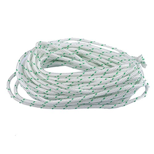 ITACO Made in Germany Recoil Starter Rope 5-Meter 3.5mm O.D Pull Cord for Husqvarna STIHL Sears Craftsman Poulan Briggs Stratton Lawn Mower Chainsaw Trimmer Brush Cutter Engine Parts ... -  Mylon, 3.5MM , 16.4FT (5Meters)
