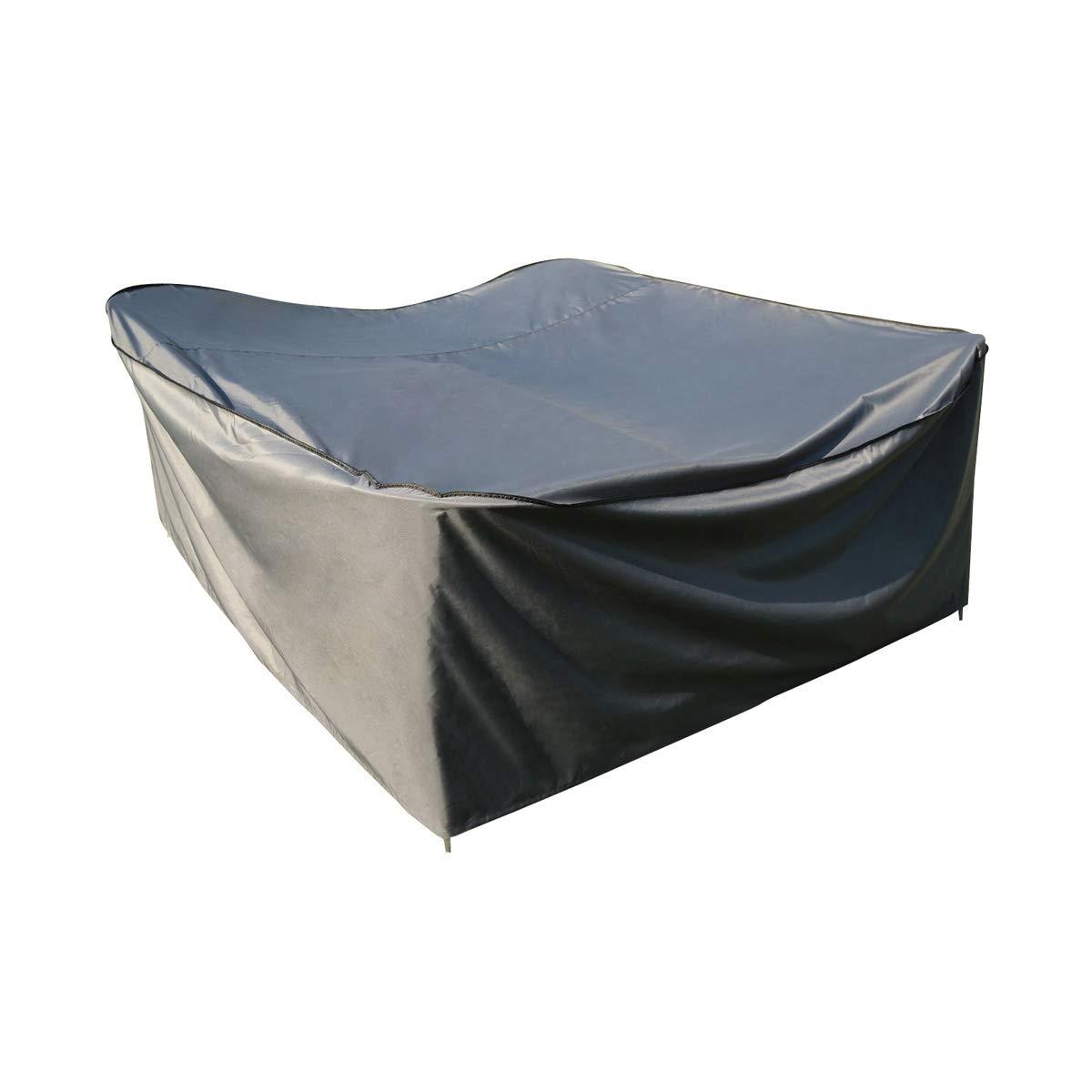 180/x 180/x 90/cm | Impermeabile Sorara Poliestere. Grigio Copertura Protettiva per Tavolo Quadrato L x W x H
