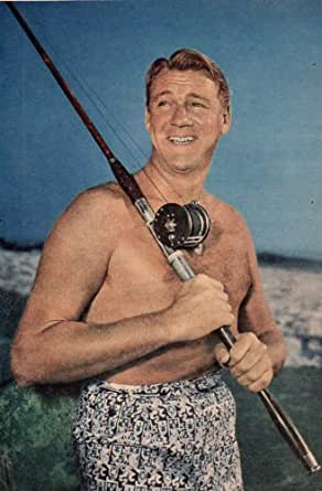 Forrest Tucker Shirtless Clipping Magazine Photo 1page 6x8