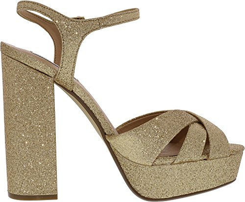 Steve Tacco Aperta Glitter Punta Scarpe Gold col Gleam Madden Donna rqnY6wIrx