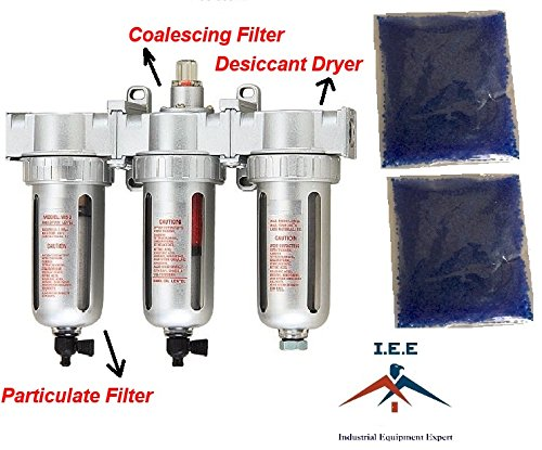 3//8COMPRESSED AIR INLINE PARTICULATE FILTER COALESCING Made in Taiwan DESICCANT DRYER