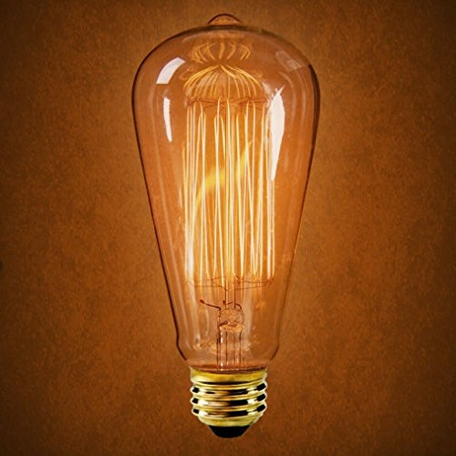 3-Pack 40W S21 Edison Marconi Antique Reproduction Light Bulb with Squirrel Cage Filament