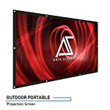 "Akia Screens Indoor Outdoor Portable Projector Screen, 120 inch Diagonal 16:9, Anti-Crease Foldable Dual Front Rear Retractable 120"" Projection Screen DIY Hang Anywhere, AK-DIYOUTDOOR120H"