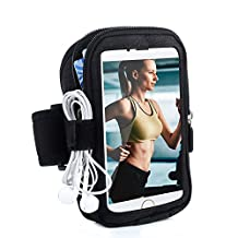 Turata iPhone Armband Sports Running Armbands Waterproof Arm Band with With Zipper Pouch Made for iPhone 6 6s 7 plus Samsung Galaxy S6 Note 7 5 Nexus 6P