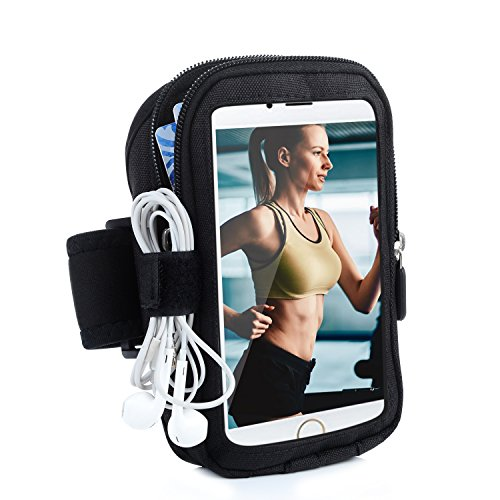 Price comparison product image Turata iPhone 6 6S Plus Armband Sports Running Armbands Waterproof Arm Band with Zipper Pouch for iPhone Samsung Galaxy S6 Note 5 Nexus 6P