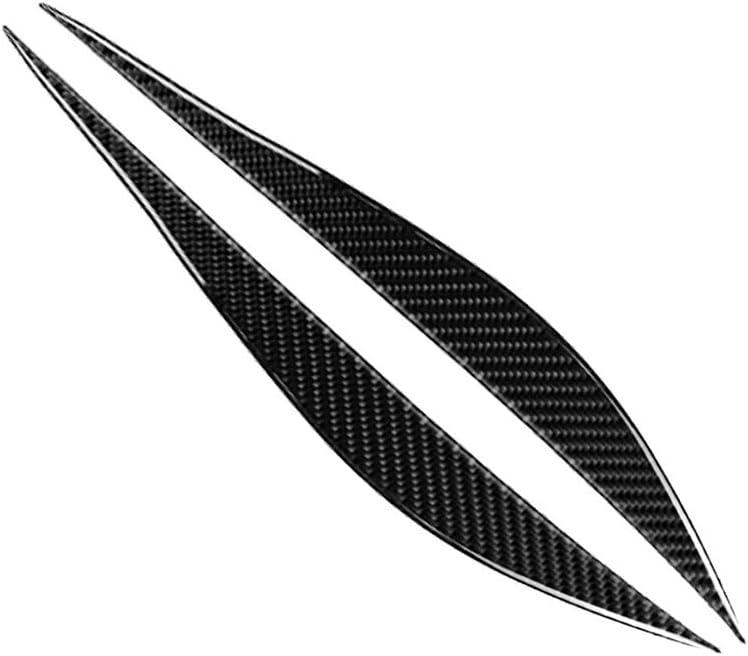 2012-2020 KKmoon 1 Pair Headlight Eyebrows Eyelids Trim Carbon Fiber Eye Lid Cover Decoration Styling Sticker for BMW F30 F31 F32 F33 F34