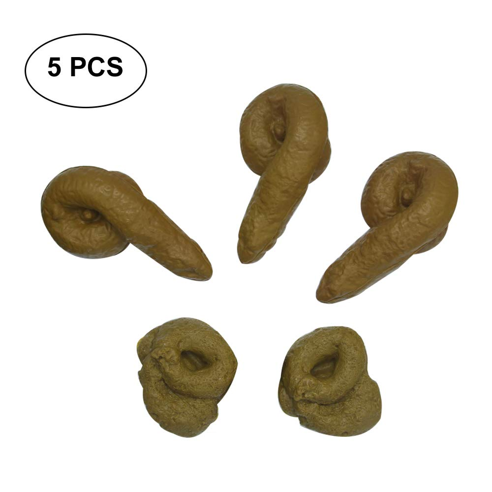 5ps Fake Poop Realistic Prank Funny Poop Toys for Joke Trick Halloween April Fool 's Day Party Look Real