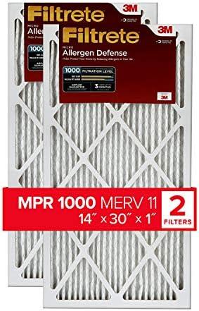 Filtrete MPR 1000Micro Allergen Defense AC Ofen Air Filter, 14x 30x 1, 2er Pack