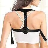 Back Posture Corrector for Women & Men, Back Adjustable Brace-Discreet Design-, Upper Back Straightener Clavicle Support for Slouching & Hunching (Black 2)
