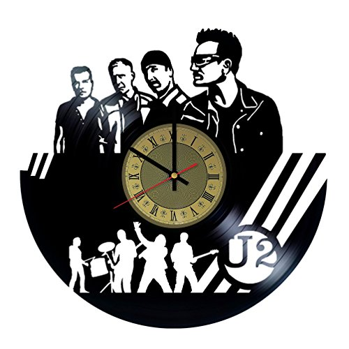 U2 Band Vinyl Wall Clock Unique Gifts Living Room Home for sale  Delivered anywhere in USA