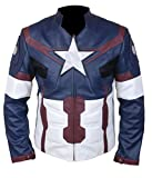 F&H Boy's Avengers Age of Ultron Captain America Steve Rogers Jacket L Blue