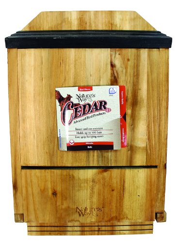 natures-way-bird-products-cwh6-triple-chamber-cedar-bat-house-205-x-12-x-5