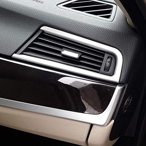 TongSheng ABS Chrome Dashboard Side Air Conditioning Outlet Vent Frame Trim 2pcs BMW 5 Series F10 520li 525li 530li 2011-2017 (Bright)