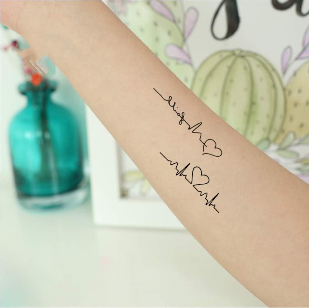 Ruofengpuzi Adesivo Tatuaggiooriginal Heartbeat Melody Pareja ...