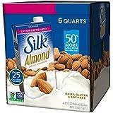 Silk Almond Milk, Unsweetened Vanilla, 32 Fluid Ounce (Pack of 6)