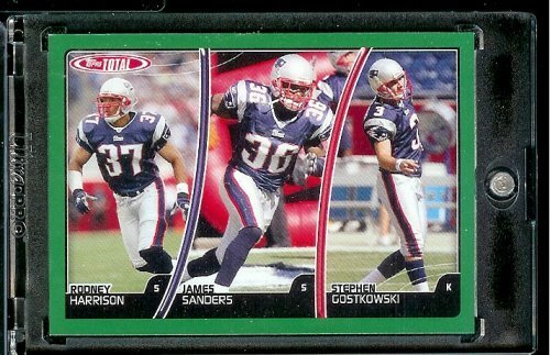 2007 Topps Total # 231 James Sanders - Rodney Harrison - Stephen Gostkowski - New England Patriots - Football Card - James Harrison Football