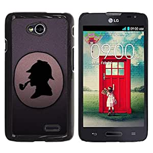 Be Good Phone Accessory // Dura Cáscara cubierta Protectora Caso Carcasa Funda de Protección para LG Optimus L70 / LS620 / D325 / MS323 // Funny Detective