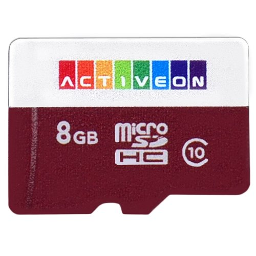 ACTIVEON AA09S08 8GB High-Speed Class 10 microSDHC Memory Card