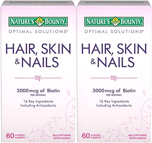 Nature's Bounty Optimal Solutions Hair, Skin & Nails Formula, 120 Coated Caplets (2 X 60 Count) Review